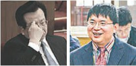 左图:中共前国家副主席曾庆红 右图:明天系掌门人肖建华。(大纪元合成图)