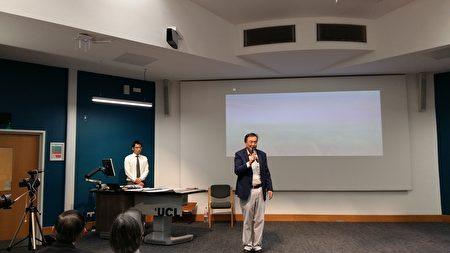 李崗導演在倫敦大學獻映《想飛》後與觀眾互動環節(夏松/大紀元)