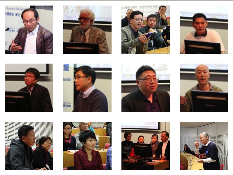 悉尼紀念六四28週年論壇,部分演講嘉賓。(駱亞/大紀元)