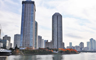 東京的高層住宅。(盧勇/大紀元)