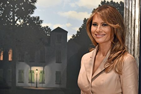 第一夫人梅拉尼娅(Melania Trump)。 (Photo credit should read ERIC LALMAND/AFP/Getty Images)
