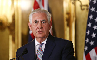美国国务卿蒂勒森周一(6月5日)表示,在朝鲜持续试射导弹及扬言不放弃发展核武之际,北京应对平壤施加更大压力,不应逃避制朝责任以及试图以经济实力摆平问题。(Mark Metcalfe/Getty Images)
