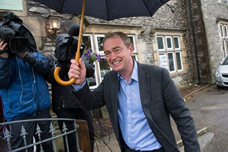 Leader of the Liberal Democrats, Tim Farron leaves a polling station after voting in Kendal, northwest England on June 8, 2017, as Britain holds a general election. As polling stations across Britain open on Thursday, opinion polls show the outcome of the general election could be a lot tighter than had been predicted when Prime Minister Theresa May announced the vote six weeks ago. / AFP PHOTO / Oli SCARFF (Photo credit should read OLI SCARFF/AFP/Getty Images)