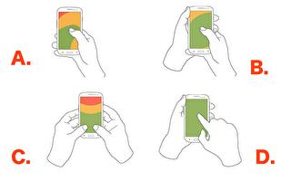 你滑手機的姿勢 透露了你的性格和感情觀