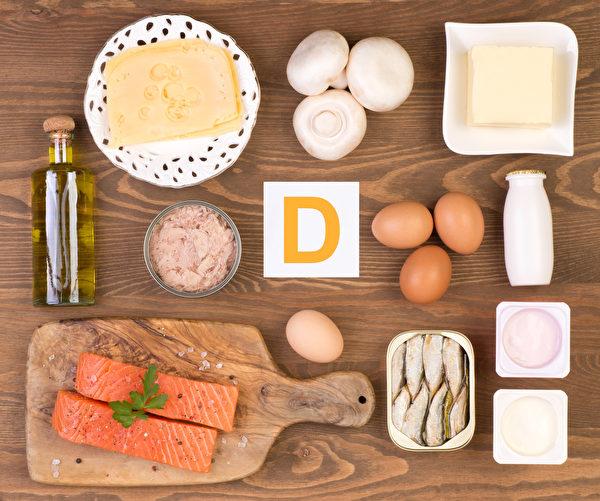 今年冬天,預計有超過四分之一的西澳人將出現維生素D缺乏症,吃對食物則可避免。圖為富含維生素D的食物。(Fotolia)