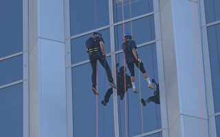 挑战16楼高空垂降 募款帮助戒毒者