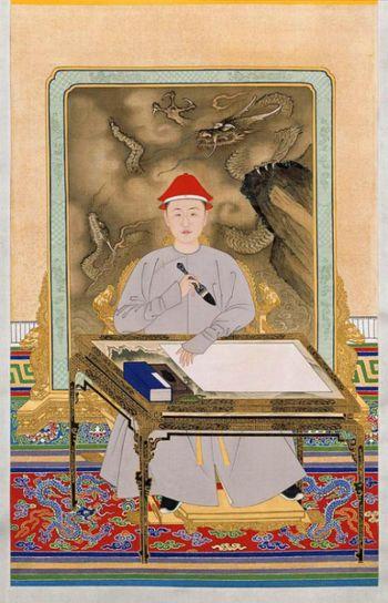 清代佚名宫廷画家笔下的少年康熙皇帝。(公有领域)