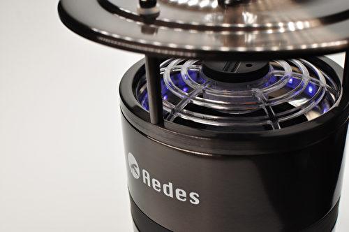 省电LED紫外光吸引蚊子。(斑蚊克星提供)