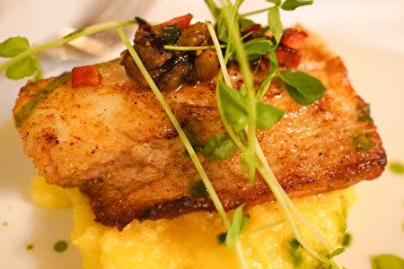 La Strada意大利餐廳的香煎鱈魚。(攝影:李旭生/大紀元)