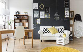 家居配色善用主題牆,能明確空間的用途,也能活化空間色彩。(Shutterstock)