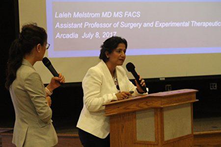 《乙肝和肝癌的关系》主讲者Dr.Laleh Melstrom。(Arthur/大纪元)