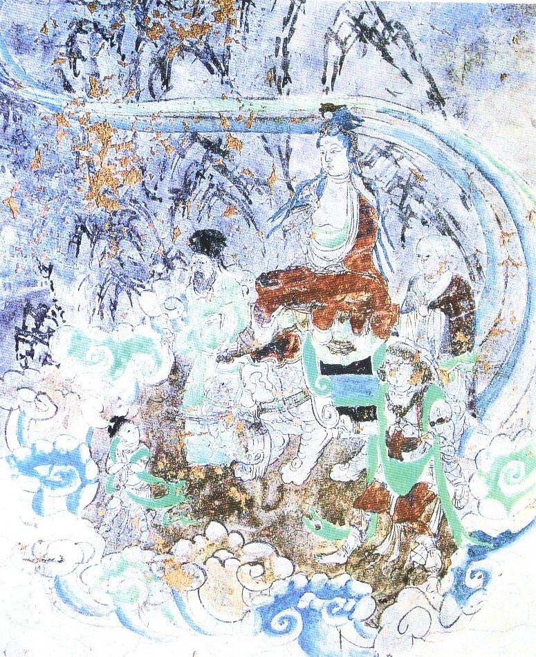 如來請觀音菩薩前往東土,尋找一位取經人。圖為敦煌壁畫中的《唐僧禮佛圖》。(公有領域)