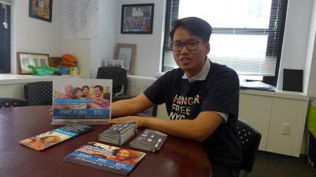 紐約市反飢餓機構Hunger Free NYC「進行提問」項目經理陳成峯。