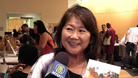 夏威夷作家盖尔·原田(Gail Harada)。(新唐人电视台提供)
