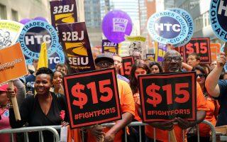 美20州明年1月調漲最低工資 500萬人受益