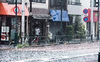 暴雨冰雹橫掃關東東京多地被水淹