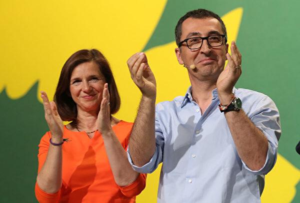 Cem Özdemir和Katrin Göring-Eckardt (Sean Gallup/Getty Images)