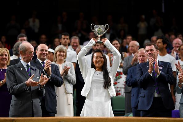 溫網新秀——美籍華人女孩劉婧文(Claire Liu)。劉婧文奪得溫網青少年組女子單打冠軍。年僅17歲的她是土生土長的美國人,在青少年組排名世界第二,已經成為未來美國女網的希望。(Shaun Botterill/Getty Images)