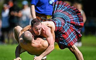 男子勇武 苏格兰短裙飞扬的高地运动会