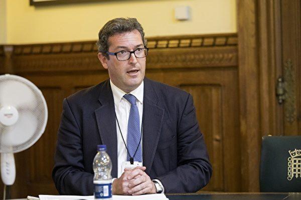 英國保守黨人權委員會副主席本尼迪克特·羅傑斯(Benedict Rogers)(Simon Gross/大紀元)