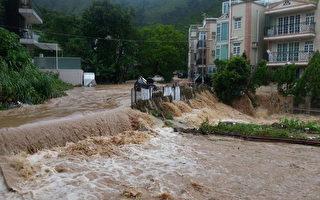 香港三度發黃雨 大埔近百人被困