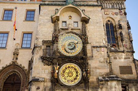 布拉格著名的天文鐘。(Pixabay )
