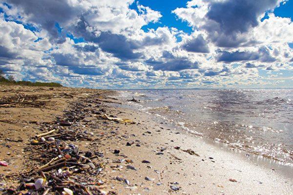 海洋廢棄物隨海流被沖回岸上。(Pixabay)