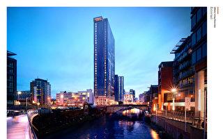 曼徹斯特金融區旁精華地段,35層精品住宅。(五都海外置業提供)