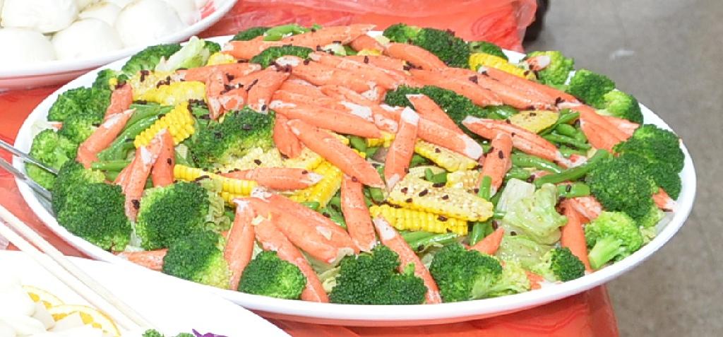 紅麴和風健康菜。(宋順澈/大紀元)