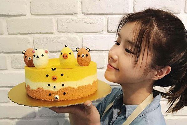 李佳颖最近忙于健身,也迷上做蛋糕。(三立提供)