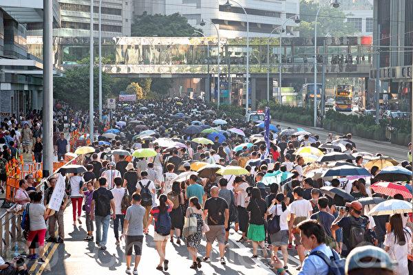 「人心未死」 民主人士評香港十萬人大遊行