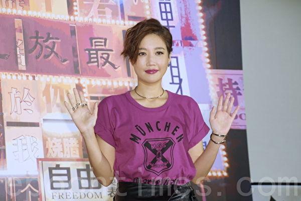 A-Lin新歌MV首映 与霍建华对戏坦言紧张