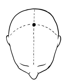 百會穴位於頭頂正中線和兩耳尖連線的交點處。(Fontanella提供)
