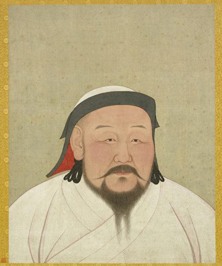 臺北國立故宮博物院藏元世祖皇帝像 (公有領域)