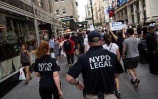 反種族主義暴行 紐約千人街頭抗議