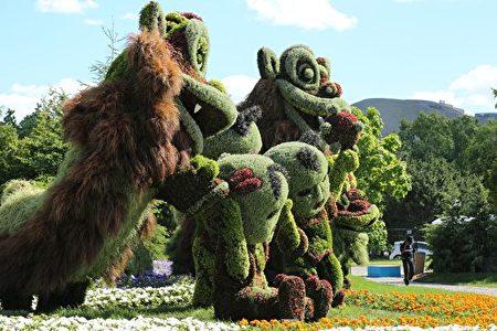 来自中方的原意雕塑——狮子。(任侨生/大纪元)
