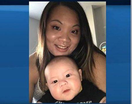安吉.唐(Angie Tang)和5個月大的兒子亨特爾(Hunter)(家庭成員提供)