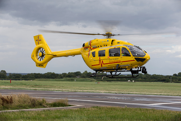 CAMBRIDGE, ENGLAND - JULY 27: Prince William, Duke of Cambridge starts his final shift with the East Anglian Air Ambulance based out of Marshall Airport on July 27, 2017 near Cambridge, England. (Photo by Heathcliff O'Malley - WPA Pool/Getty Images)