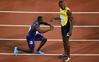 田徑世錦賽博爾特百米失金 卻獲新飛人跪拜