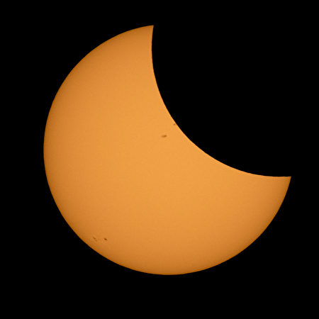 ROSS LAKE, WASHINGTON - AUGUST 21: In this NASA handout, the Moon is seen passing in front of the Sun during a solar eclipse from August 21, 2017 from Ross Lake, Northern Cascades National Park, Washington. A total solar eclipse swept across a narrow portion of the contiguous United States from Lincoln Beach, Oregon to Charleston, South Carolina. A partial solar eclipse was visible across the entire North American continent along with parts of South America, Africa, and Europe. (Photo by Bill Ingalls/NASA via Getty Images)