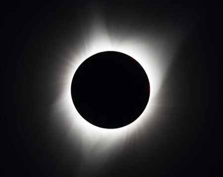 MADRAS, OR - AUGUST 21: In this NASA handout, A total solar eclipse is seen on August 21, 2017 above Madras, Oregon. A total solar eclipse swept across a narrow portion of the contiguous United States from Lincoln Beach, Oregon to Charleston, South Carolina. A partial solar eclipse was visible across the entire North American continent along with parts of South America, Africa, and Europe. Photo Credit: (Photo by Aubrey Gemignani/NASA via Getty Images)