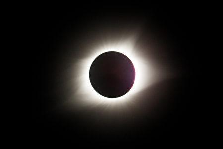 8月21日美国密苏里州Jefferson City的日全食现象。(陈虎/大纪元)