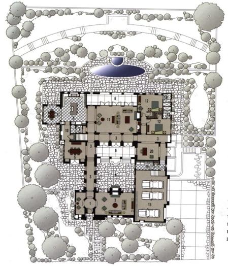 为作者多年前在北京参与设计施工的一个王府式四合院。(湾区建筑师Susan Chen提供)