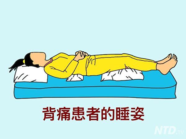 背痛的睡姿。(Ntd.tv)