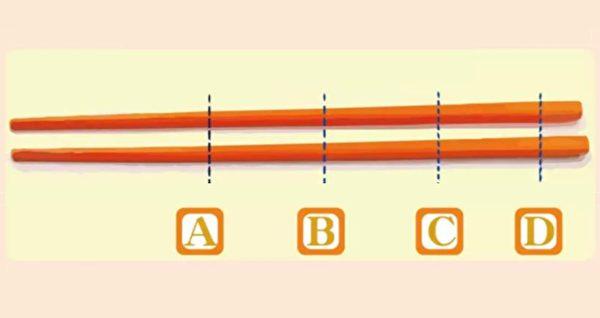 握筷子的位置可以透露你的脾氣與性格。