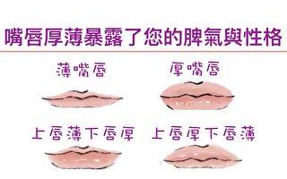 上下嘴唇的厚薄和嘴唇整體的厚薄情況,會反應一個人的個性,從而透露一個人的命運。