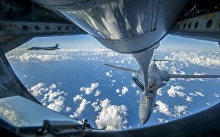 美战略轰炸机抵近朝鲜领空 F-15C战机护驾
