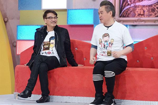 吴孟达 (左)与康康电影宣传。(福斯国际电视网提供)
