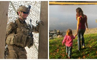 丈夫托德在阿富汗战争中不幸牺牲,但他留给妻女最特别的礼物。(blogspot照片/大纪元合成 )