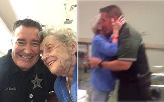飓风疏散老妇难安 警员轻歌共舞融化所有人的心